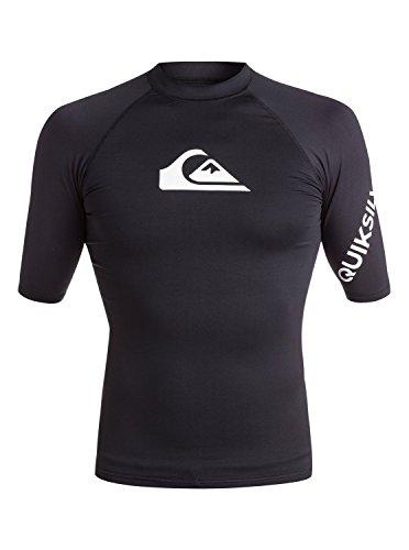 Quiksilver mens All Time Short Sleeve Rashguard Swim Shirt Upf 50+ wetsuits