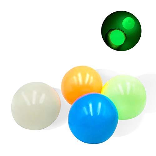 Ububiko Luminoso Juguetes Sensoriales antiestres Juguetes Autismo Bola para niños y Adultos Juguetes para el TDAH, Pelota antiestres,fortalece Manos y Dedos, Se Puede Pegar en la Pared