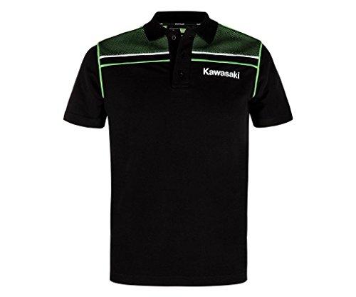 Kawasaki Sports Polo Shirt ! NEU schwarz grün (M)