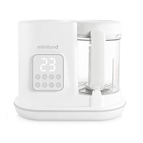 Miniland 89234 Chefy 6 - Babynahrungszubereiter, Dampfgaren, Mixen, Sterilisieren, Aufwärmen, 6-in-1, weiß