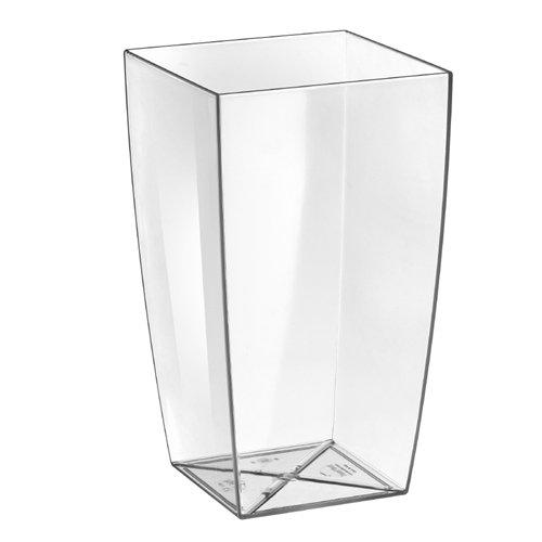 Vase Algarve transparent, pour intérieurs, design made in Italy, 35 cm, 11 litres