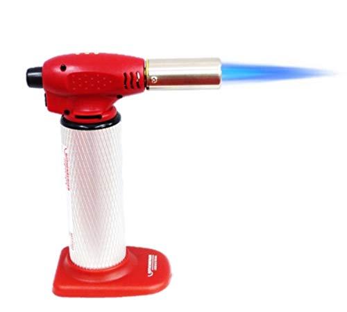 ROTHENBERGER Industrial hochwertiger Flambierbrenner Universalbrenner HOT FIRE , Über-Kopf-Arbeiten möglich, stufenlose Flammenregulierung bis 1300 Grad, wiederbefüllbar , 1500002990, rot