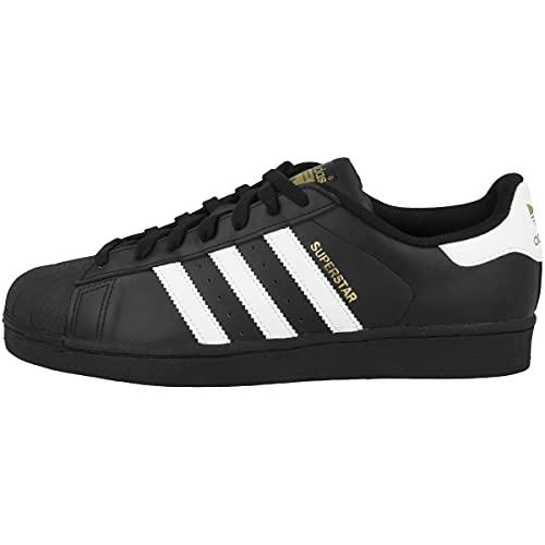 adidas Originals Superstar B27140, Unisex-Erwachsene Low-Top Sneaker, Schwarz (Core Black/Ftwr White/Core Black), EU 37 1/3