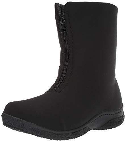 Propet Women's Madi Mid Zip Snow Boot, Black, 9 Wide Wide US