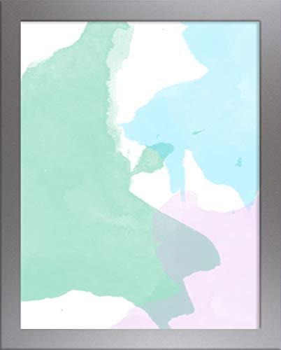 Home decoratie Misano rand Photo Frame 20,9x31,5 Inch (53 x 80 cm) met Antireflectieve Kunststof Glas Perspex 31,5x20,9 Inch Fotolijst Zilver Mat