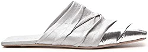 Rick Owens 6821LCOM18181802 Damen Silber Leder Mulesschuhe