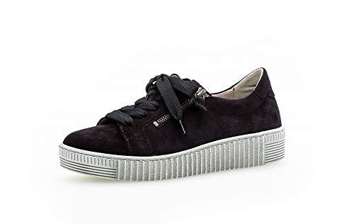 Gabor Mujer Zapatillas, señora mínimo, Calzado bajo,Calzado de Calle,Calzado Deportivo,Suela de Plataforma,Ocio,Pazifik (Grau),40 EU / 6.5 UK