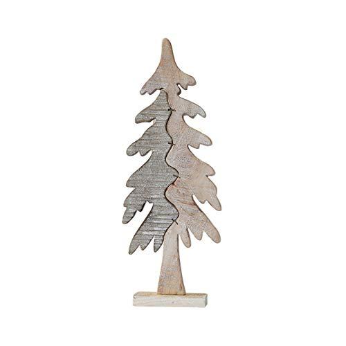 XY&YD País Decoración De La Mesa para Decoración De Navidad para La Mesa del Hotel De Navidad,Creativo Madera Nieve Árbol De Navidad Decoración De Mesa-Un M