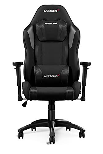 AKRacing Gaming Chair Core EXSE Silla para Videojuegos, Tela/Piel sintética, Negro, Talla única