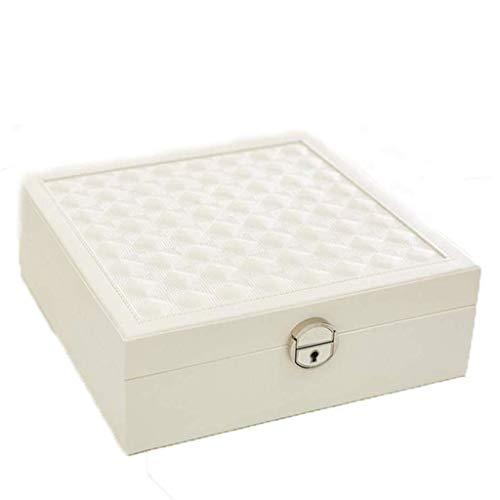 BWCGA Joyería Caja Blanca - Pendientes de joyería de Almacenamiento portátil de Gran Capacidad Box