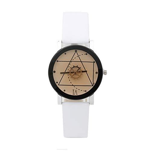 Reloj Las mujeres del reloj señoras de las muchachas Engranaje de cristal de reloj del cuero for el regalo del aniversario de boda cumpleaños graduación de amor Amigo de la mamá Relojes grabad