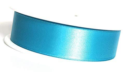 Ruban de Satinette 25m x 25mm Décoratif de Cadeau pour Nœuds Bleu – Turquoise