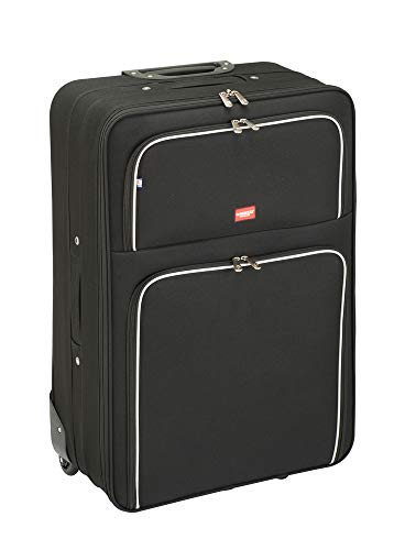Princess Traveller Barcelona Soft Luggage Traveller Laptop Rollkoffer, 95 Liter, Black