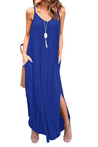 Vestidos Mujer Casual Playa Largos Boho Floral Maxi Vestido Bohemio Tirantes Playa Verano