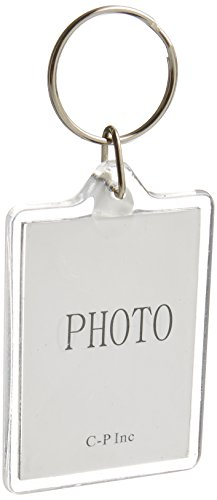 10pcs Clear Acrylic Blank Photo Picture Frame Keychain Keyring Insert, Suit the size of 2.74.6cm (Rectangle)