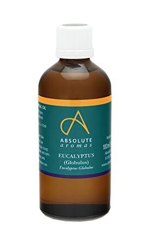 Absolute Aromas Aceite esencial de Eucalipto 100ml - Eucalyptus Globulus - 100% puro, natural, sin diluir y sin crueldad animal - Para usar con difusores y mezclas de aromaterapia