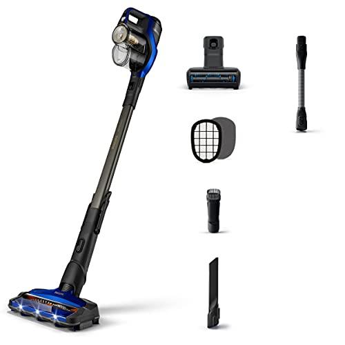 Philips 360° Suction Nozzle Cordless Stick Vacuum Cleaner Aspirador Escoba eléctrica, Negro