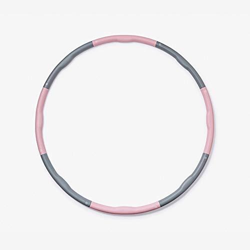 95cm Hula Reifen Die Zur Gewichtsreduktion,8Segmente Abnehmbarer, Geeignet Für Fitness/Sport/Bauchformung (Color : Pink)