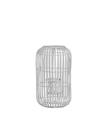 LEONARDO 032983 Teelichthalter Bianco, Tisch, weiß, Zylinder, innen und außen, Milano, 240 mm