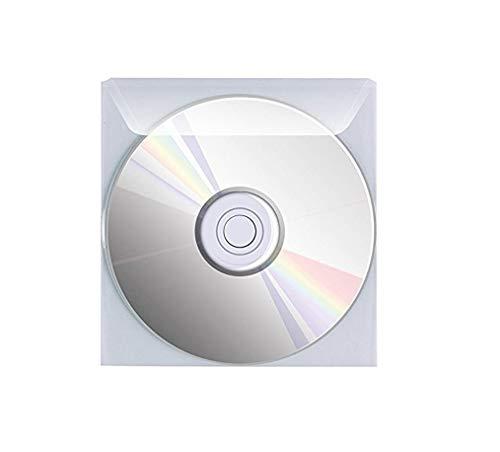 Favorit 100460144 Busta Porta Cd/Dvd con Patella di Chiusura Formato Interno 12,5X12,5 cm, Confezione da 25 Pz.