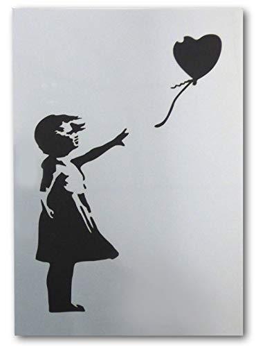 Banksy Schablone, Motiv Ballonmädchen, A3 Blattgröße (Design misst 26 x 37 cm), Heimdekoration Kunst Malerei Schablone