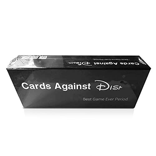 LETAMG Cartas contra el Juego de Cartas de Disney El Juego de Cartas de tu Mesa de la Infancia Juego de Fiesta para Adultos Juego de Cartas para Fiestas(Negro,27.5×10×6.8cm)