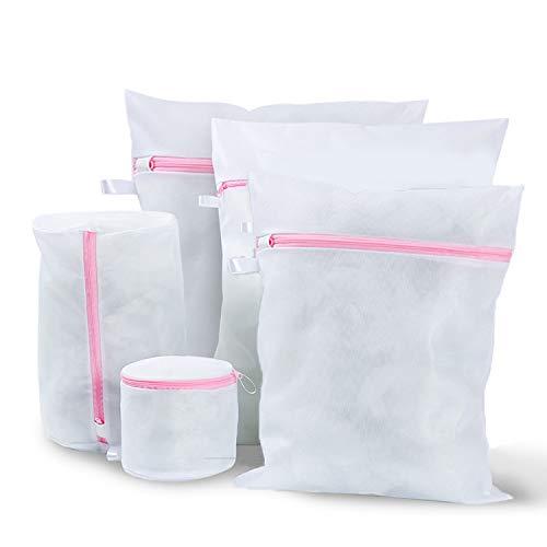 iAmotus set van 5 waszakken mesh wasnet hergebruik permanente wasmachinetas mesh waszakken voor wasmachine en droger, BH, ondergoed, babywas, sokken, kasjmier
