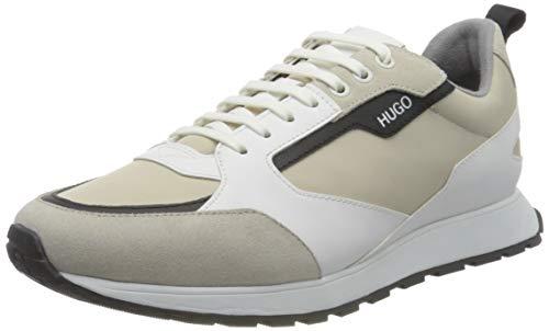 HUGO Icelin_Runn_nypu, Zapatillas Hombre, Color Blanco Abierto, 44 EU