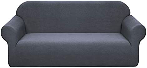 Granbest Premium Water Repellent Sofa Cover High Stretch Couch Slipcover Super Soft Fabric Couch Cover (Gray, Large)
