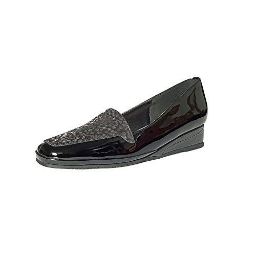 Van Dal Damen Keile Verona III, Schwarz - Black Patent/Sequin Pri - Größe: 36 EU