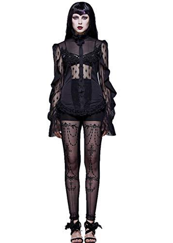 Eva Lady Tuniek Tops voor Vrouwen Victoriaanse Bloemen Kant Dames Bloem Gevoerd Patroon Stretch T-Shirt Gehaakte Mesh Tuniek Party Plus Size