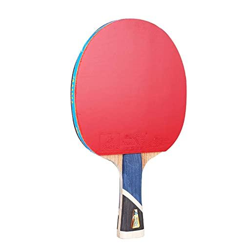 LINGOSHUN Juego de Raquetas de Ping Pong Profesional,Mango Cómodo,Raquetas de Tenis de Mesa de Entrenamiento Aficionado Intermedio / 5 Stars/Long handle
