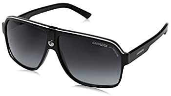 Carrera CA33/S Pilot Sunglasses Black Cry Grey Frame/Dkgray Gradient Lens 62 mm