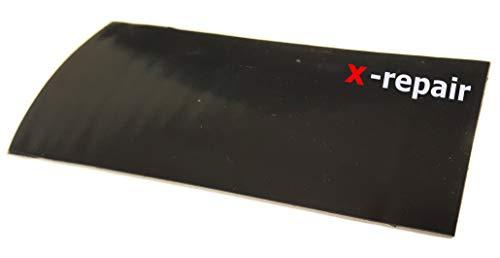 x-repair-patch Selbstklebender Gummi-Aufkleber, Strong Reparaturaufkleber, elastisch, wasserdicht, schwarz, Zelte, Pool, LKW Plane, Wassersport (20 x 10 cm)