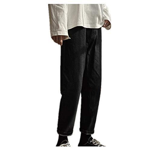 NOBRAND Herren Jeans Frühling schwarz koreanische Farben Streetwear Blue Denim Pants Male Fashion Skinny Kleidung Plus Size Gr. 34-37, Schwarz