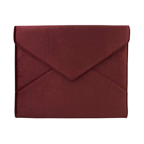 """Sonix Velvet Padded Envelope Case for MacBook Sleeve/Laptop Clutch (13"""") Cherry Velvet"""