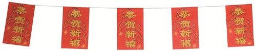 DIGE n22gpsab/4chi - Guirlande de 5 mètres avec 10 drapeaux Chine de 19 x 30 cm