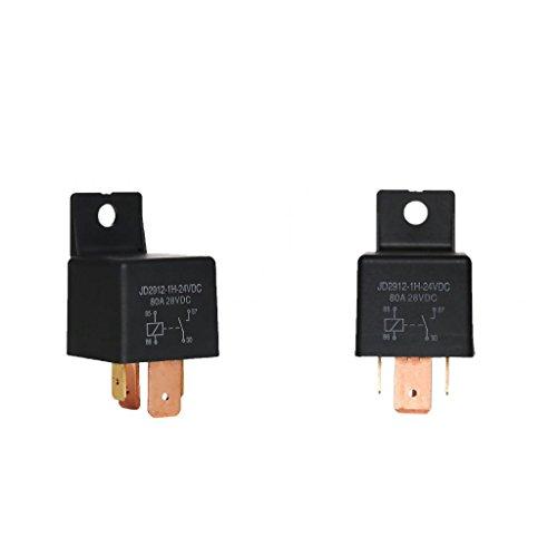 2pcs Interruptor de Cambio SPDT Relés 4 Pin de Coche, JD2912-1H-24VDC 80A 28VDC