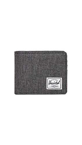 herschel portafoglio Herschel Roy Coin RFID Wallet Black Crosshatch