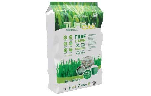 TURFquick Masterline Premium, Rasenmatte, Rasenvlies, Matte mit integrierten Rasensamen, für eine einfache Aussaat und zur Hangbefestigung, 0,80 x 12,50m (10m²)