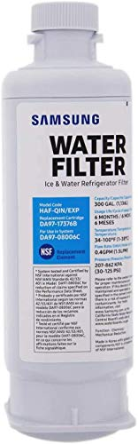 Price comparison product image DA97-17376B Refrigerator Water Filter,  Samsung 1 pack Refrigerator Water Filter, (Packaging may vary)