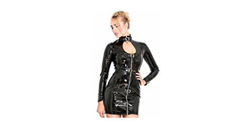 GGT- Boutique Top Totty Dominatrix Saucy Role Play Sexy Mujer Abierto Vestido ajustado de cuero