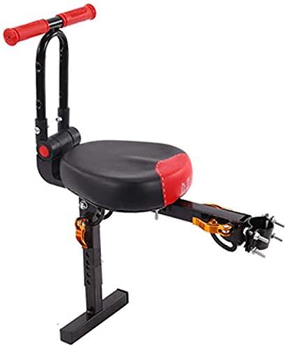 X&Y Sillín eléctrico para Bicicletas, Asiento de Bicicleta eléctrico para niños, Asiento de Bicicleta para niños con Mango Plegable (Color : Red)