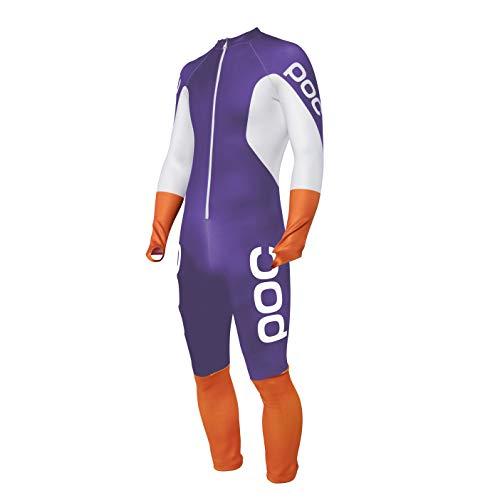 POC Skins GS Ski-Rennanzug, Dark Ametist Purple/Wasserstoff Weiß, m