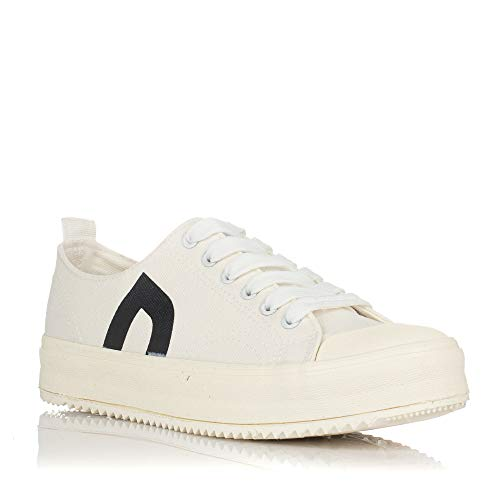 D.Franklin Womens Gumme lace-up Shoes in Synthetic Nubuck on Thick Floor
