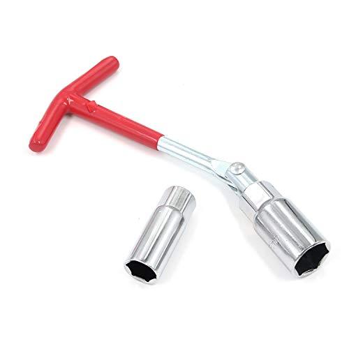 Mironey T-handle Universal Spark Plug Tool Socket Universal Joint Spark Plug Wrench 5/8