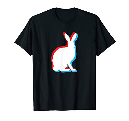 Easter Bunny Retro Movie Effect Color Divide Rabbit Animal T-Shirt