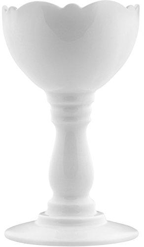 Alessi Dressed Eicherbecher aus Prozellan, Porzellan, Weiß, 7.5 x 9.6 x 9 cm