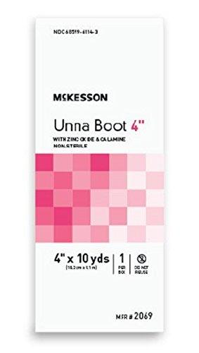 McKesson - Unna Boot McKesson 4 Inch X 10 Yard Cotton Zinc Oxide, Calamine NonSterile - 1/Box - McK
