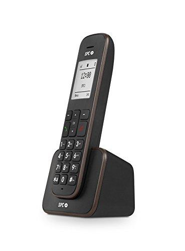 SPC Kaiser teléfono inalámbrico con Pantalla iluminada y Agenda para 150 Nombres, Mate